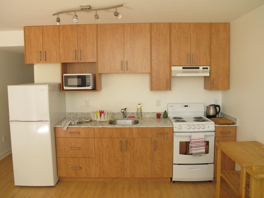 New kitchen in suite