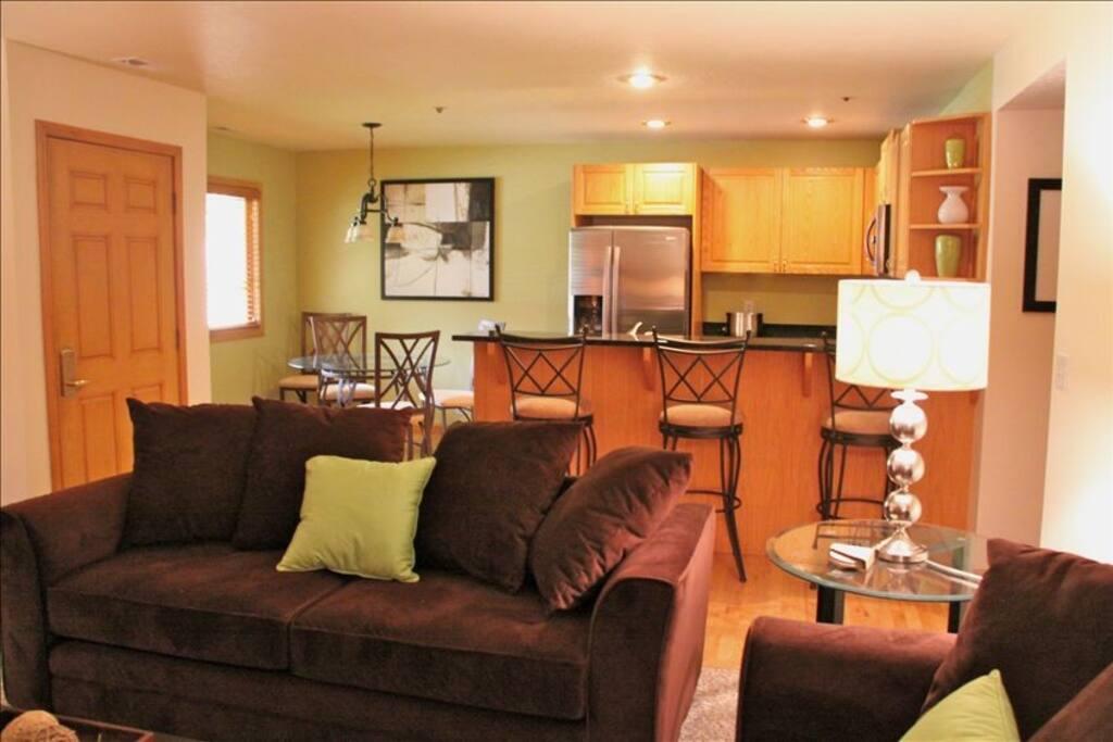Living Room - Kitchen - Dining Room
