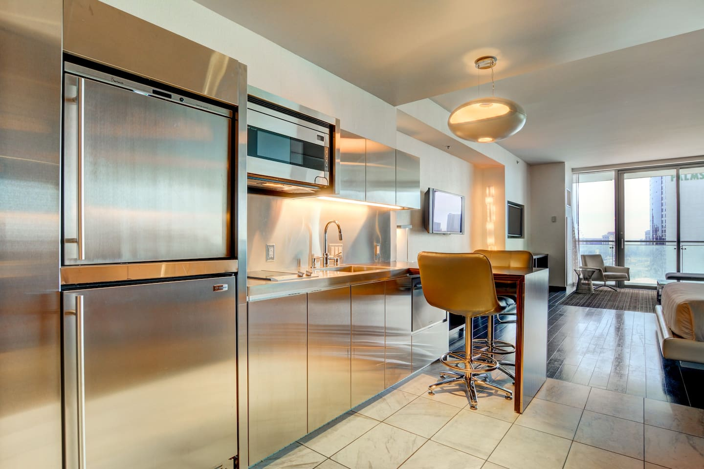View of the suite and kitchenette
