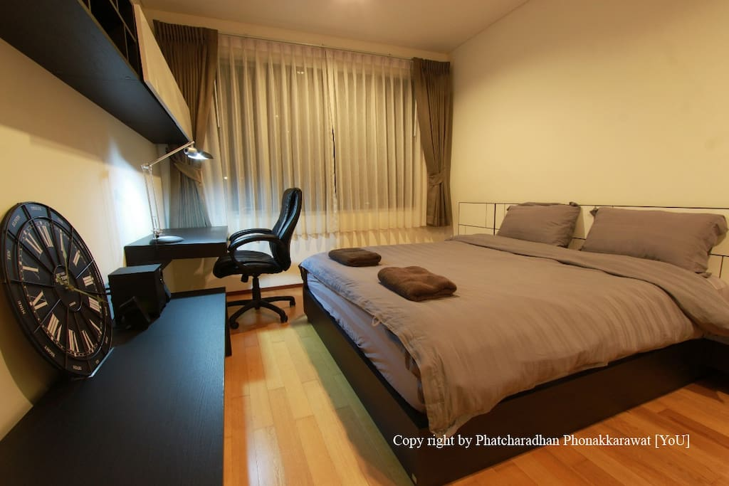 Apartment1 (29th flr): Spacious Bed Room, escape from the world and sleepy