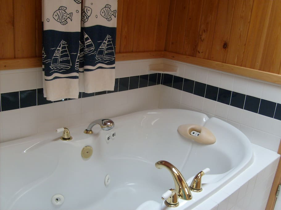 Over-sized jetted tub
