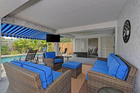 Laid-back beach escape with a private pool, screened lanai, Ping-Pong, and more!