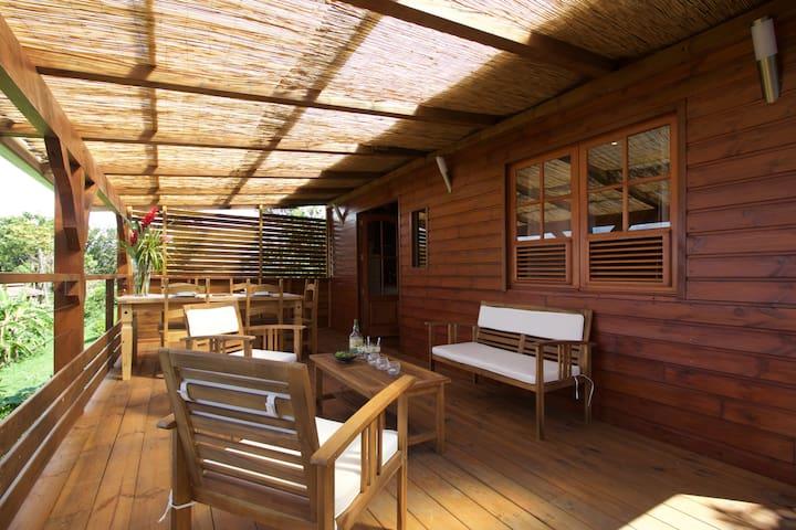 bungalow vert caraïbe