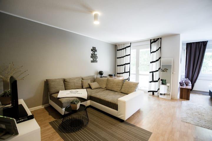 1-Raum Apartement Zentrum, Balkon