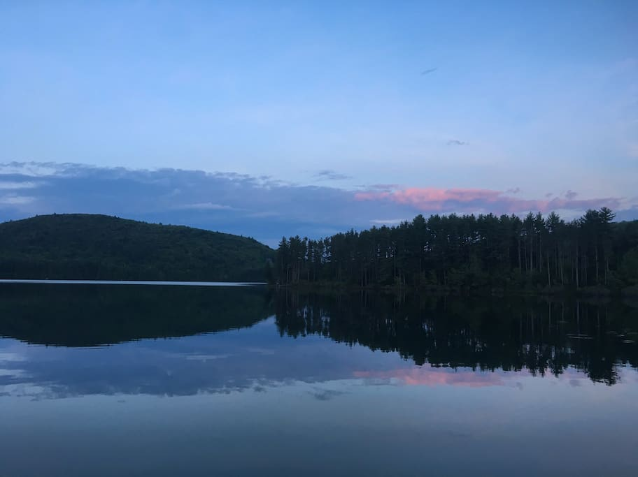 The Reservoir at sunset