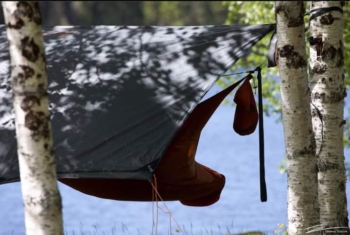 Sleep in the worlds best hammock @Skalestrømmen