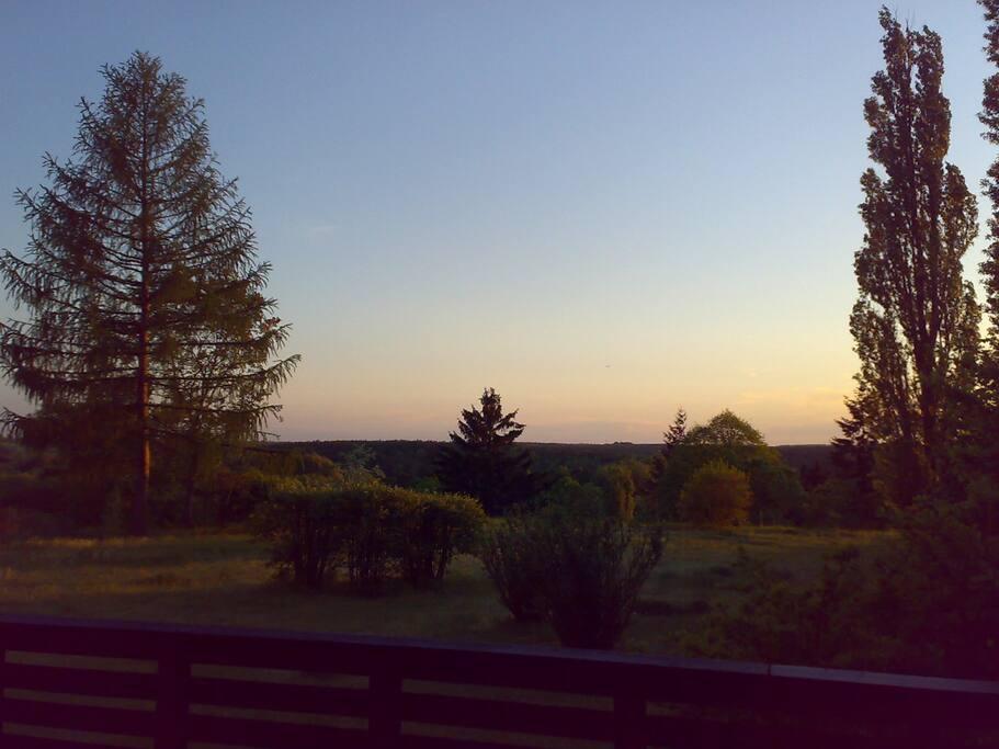 Abendstimmung auf der Terrasse.