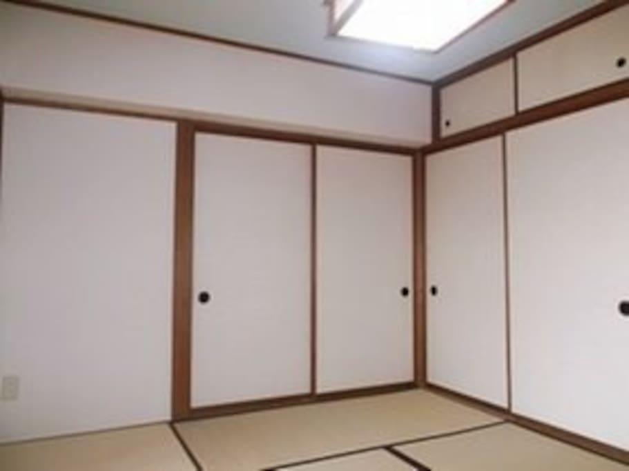 Japanese style 6-mat Tatami room.