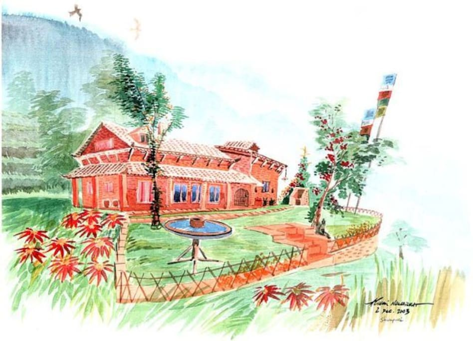 Shivapuri Heights Poinsettia Cottage - an artists impression