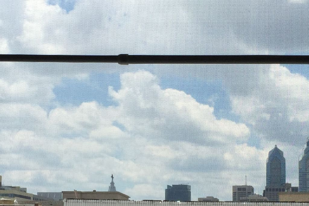 View of Center City from 3rd floor Apt.