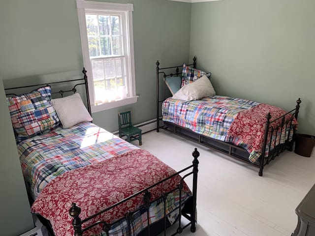 The third bedroom has two twin beds, and is a perfect childrens' room.