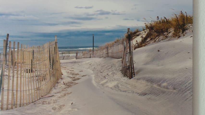 Invitation à descendre à la plage