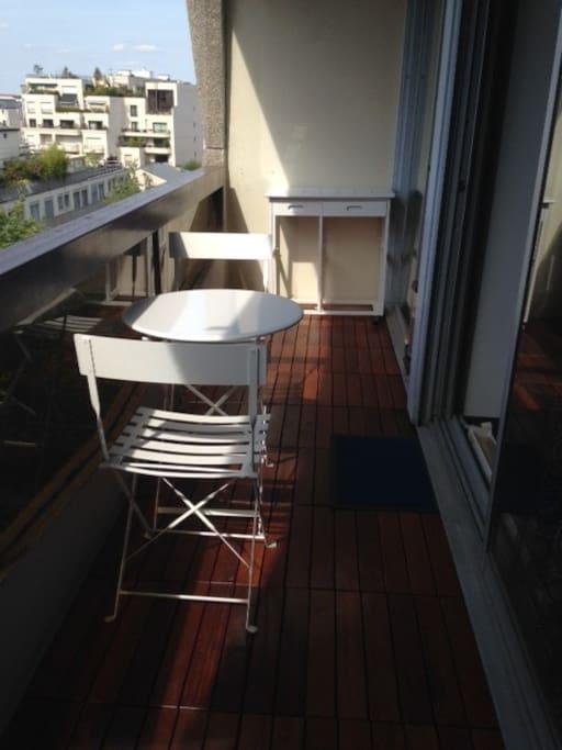 terrasse 8 m2 en bois exotique table de jardin