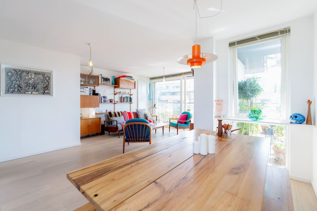 Sunny, bright and spacious shared living room.