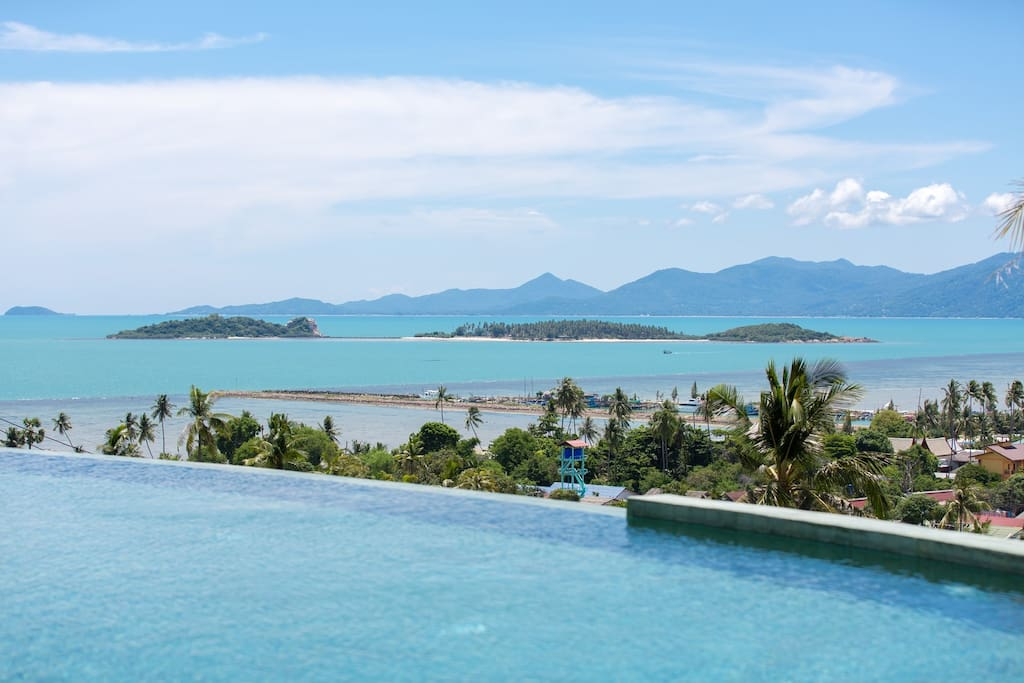 View from the infinity pool