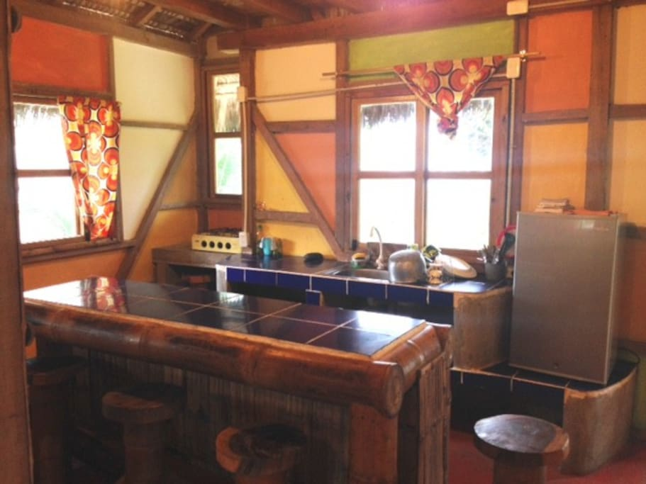 NICE COZY KITCHEN (perfect to hang out and with a mini frige)