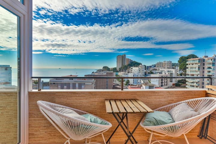 SeaView apartment in front of the beach Cala Major