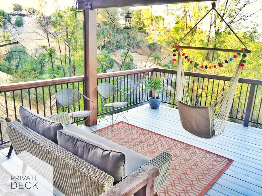 Large 200 SQ FT Private Deck. Access until 10pm daily.