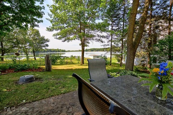 Remodeled lakefront house