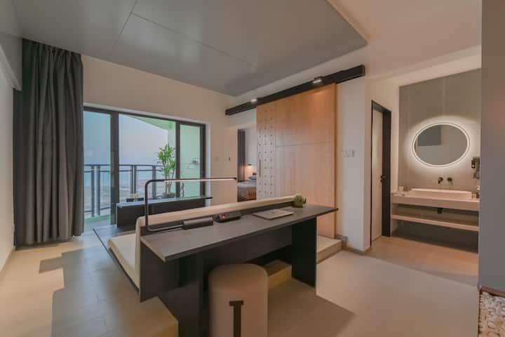 【七月】金滩北部湾一号片区极简一线海景公寓