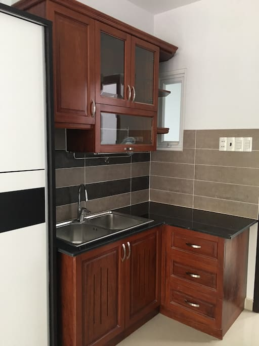 Small kitchen in the room