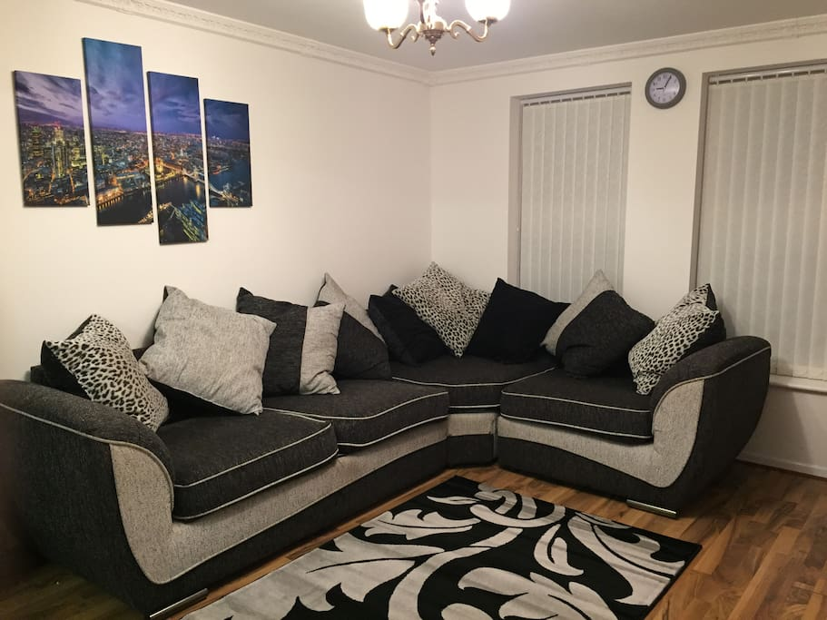 Large Corner Sofa can be used to sleep on for extra guests.  Free duvet provided!