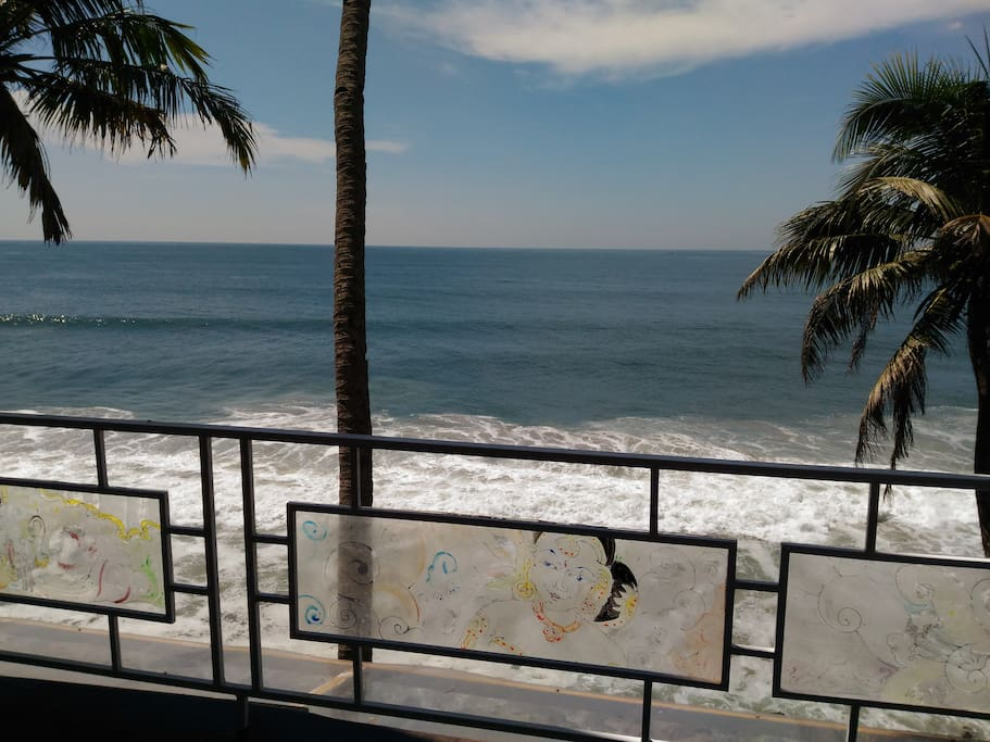 View of Sea from Lobby - Black Beach Resort,Varkala