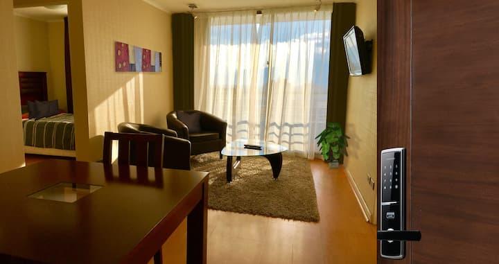Céntrico apartamento amoblado dos dormitorios
