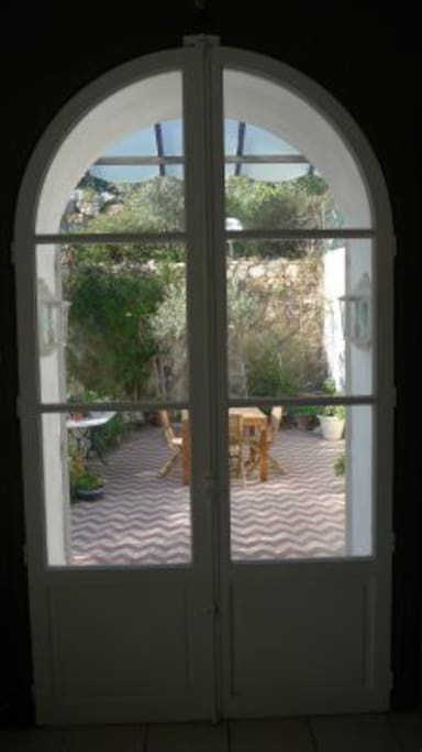 French doors to terrace
