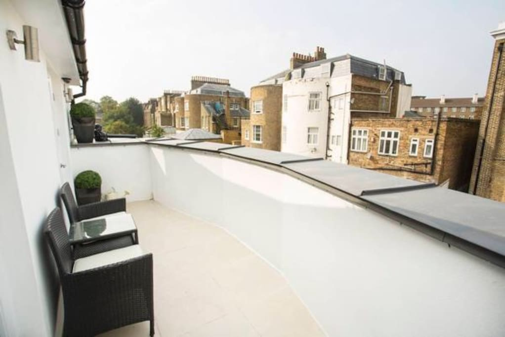Seating, London rooftop view