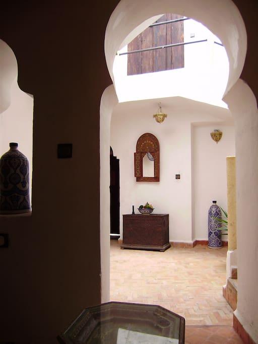 Main courtyard in Dar Stitwa