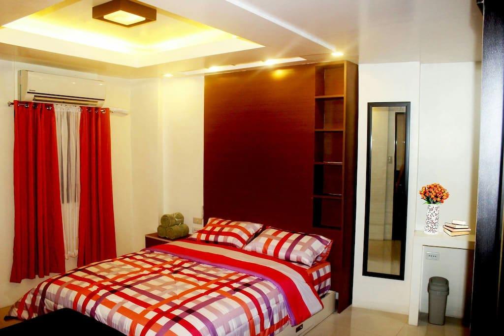 Minimalist cozy two bedroom unit apartments for rent in - 2 bedroom apartment for rent manila ...