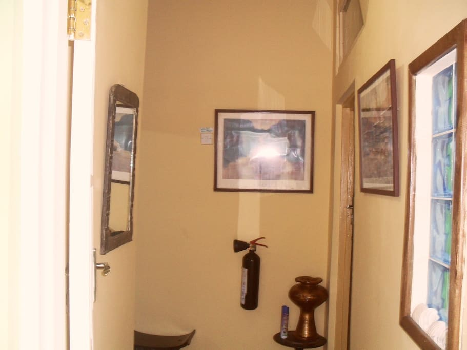 Corridor leading to entrance of apartment