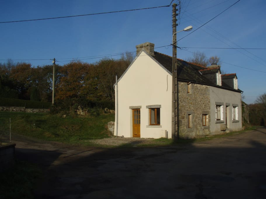 The front of the cottage and off road parking