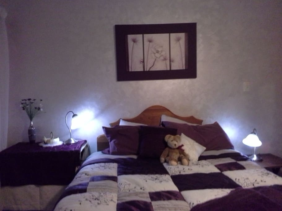 Cosy master bedroom with lots of room either side of the bed. Door is to right in this photograph. Bathroom opposite.