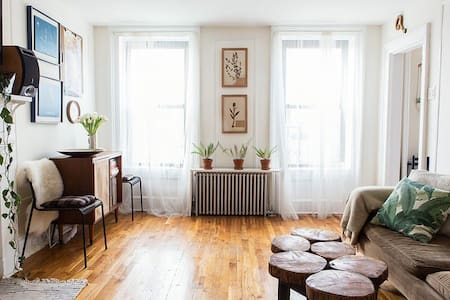 This apartment is a total gem in one of the most amazing neighborhoods in Brooklyn. It's a bright, welcoming space and is in the perfect location, especially if you love food! Depending on your dates, our cat may be staying at the apartment.