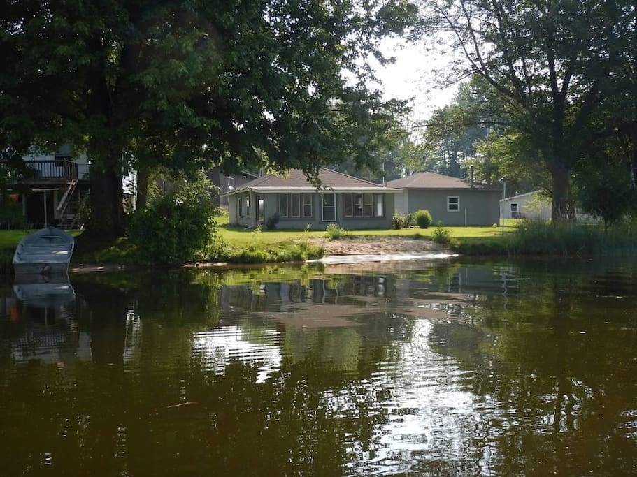 View of house from the lake.