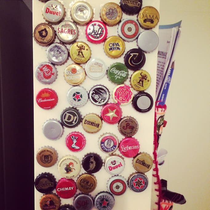 my wall from beers tamps, you can help me, bring me yours