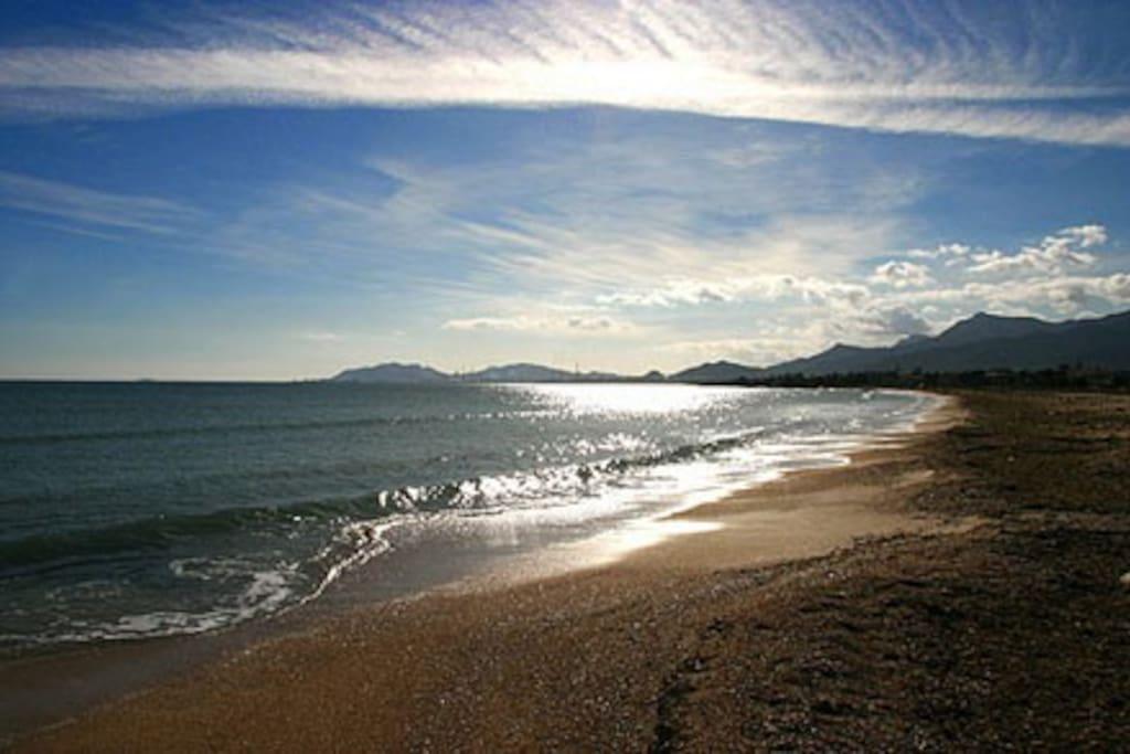 tramonto sulla spiaggia...