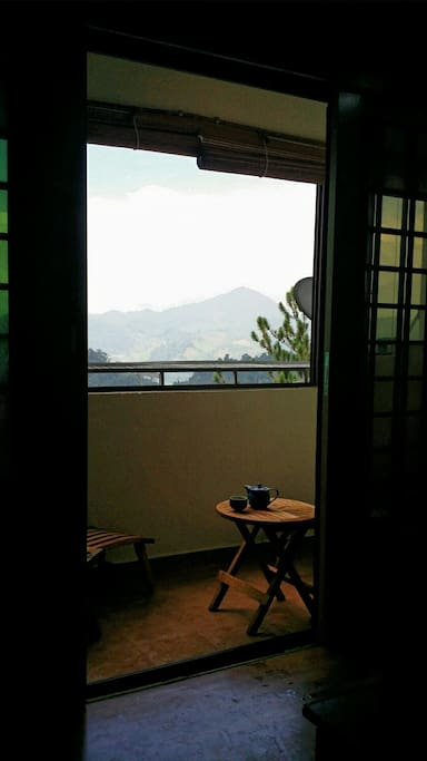 Sit back and enjoy a cup of tea at our balcony.