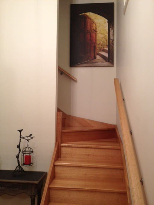 Stairway from Entrance to living area