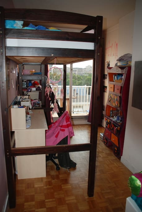 Chambre lit une place en mezzanine