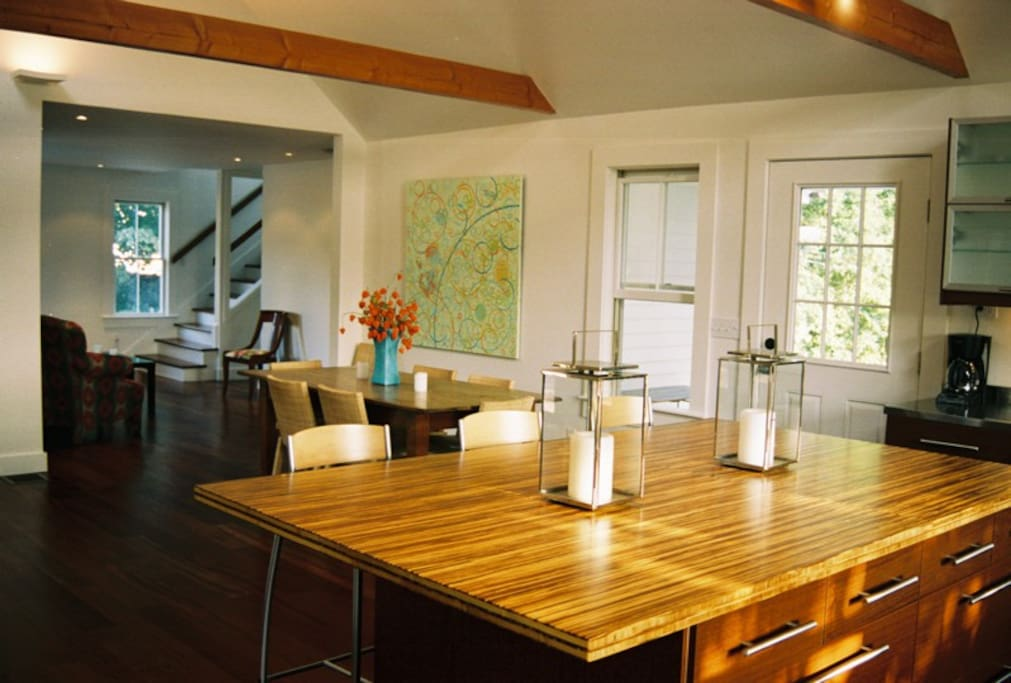 Open plan has great light and is ideal for entertaining
