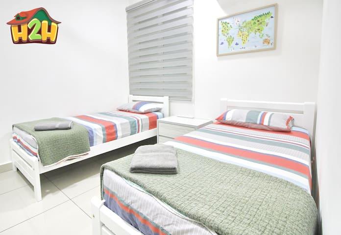 Room 2 - Single bed x 2