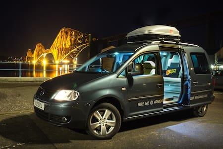 VW Caddy Camper Van Adventure in Midlothian - Dalkeith
