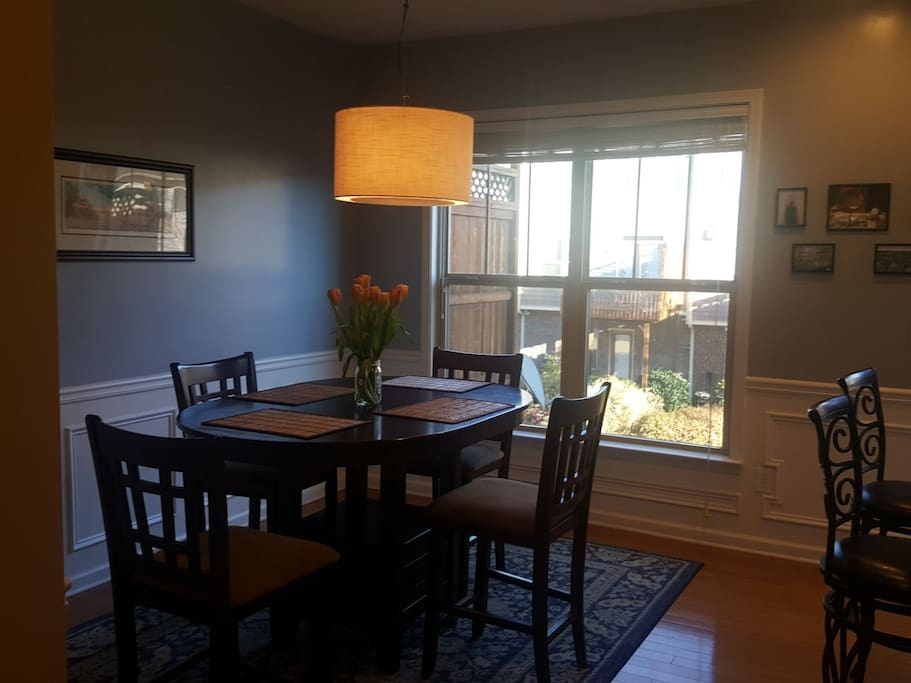 Dining room table, 2nd floor