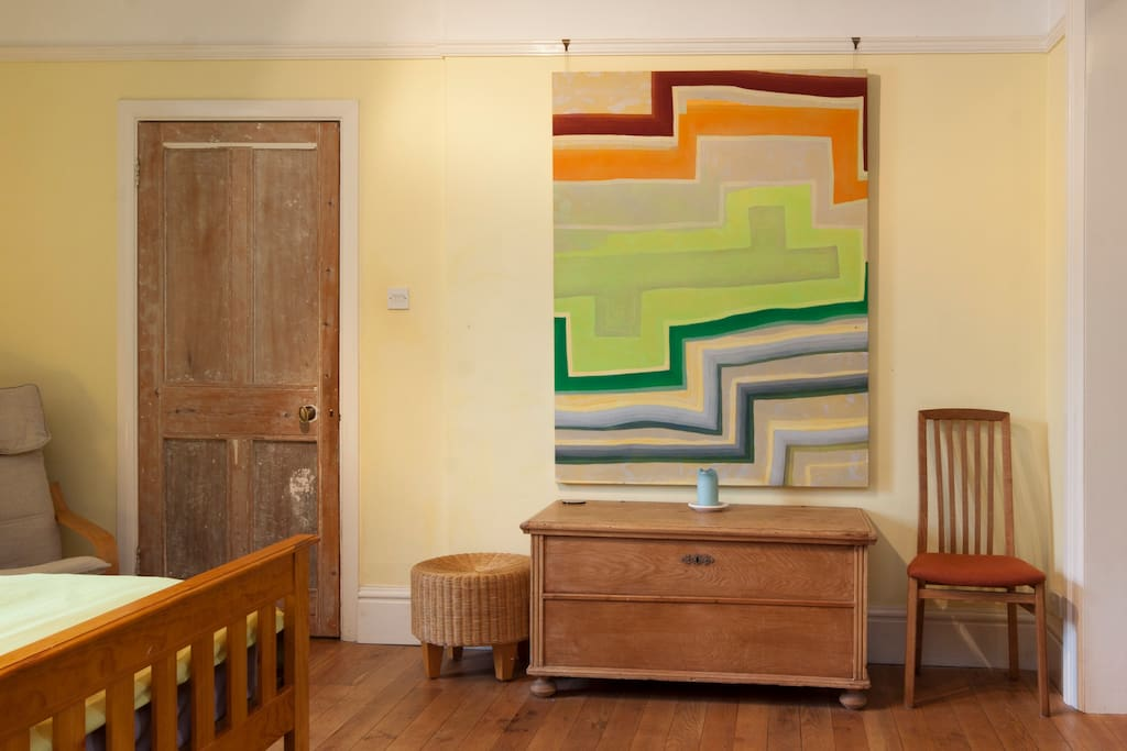 A big feature of this room is art by Dilwyn Smith.