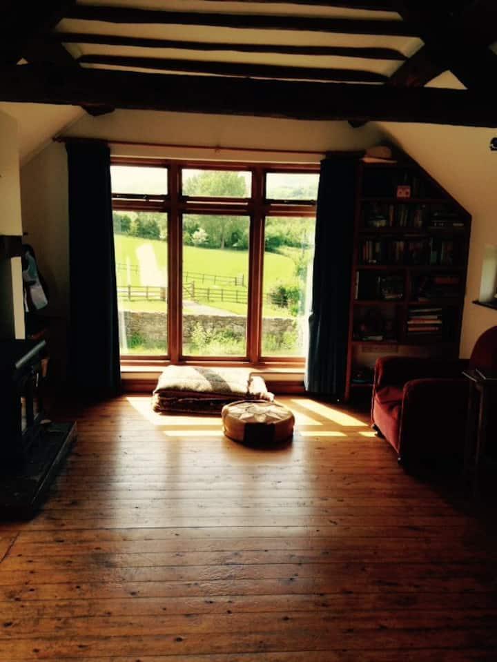 Bright Shropshire Hill Cottage