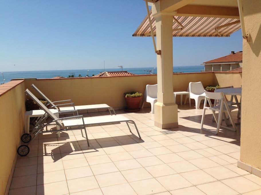 terrasse 50 m2 en L plein sud
