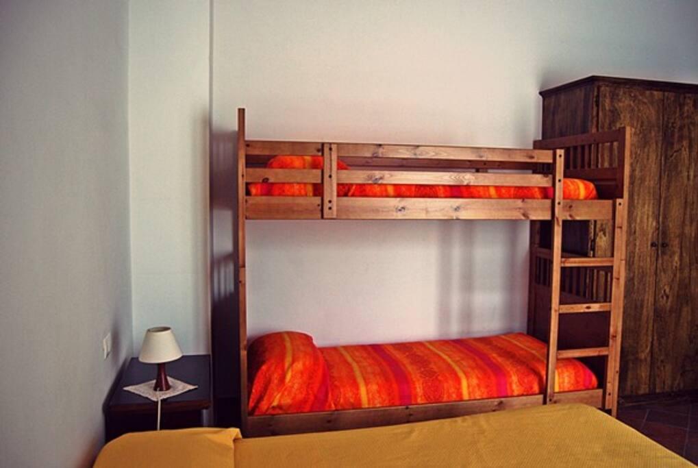 Il letto a castello!